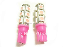 One pair PINK W5W WEDGE 5050 3 CHIPS LIGHT 13 SMD LED BULBS LED Car Interior bulbs LED instruction auto lights