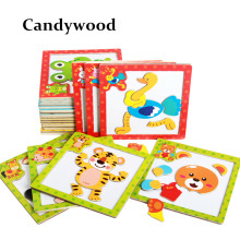 Children 3D Magnetic Puzzles Jigsaw Wooden Toys Cartoon Animals Puzzles Tangram Child Educational Toy for Children