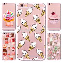 Sweet Cupcake Candy Dessert Ice Cream Yummy Macarons Donut Hard Plastic Case Cover For iPhone 4 4s 5 5s SE 5c 6 6 Plus 7 7 Plus