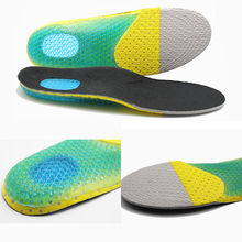 Men's Gel Orthotic Soft Running Insoles Insert Shoe Pad Arch Support Cushion(China)