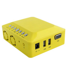 Yellow!1000lums Portable Mini LED Projector DLP Projectors for Home theater Office Class Projectors AV VGA USB 265g