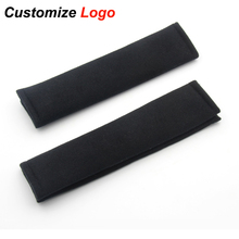 Car Seat Belt Shoulders Pad Truck Cushion Cover for SAAB Mitsubishi Ford Lexus Renault Suzuki Citroen Mini with Logo