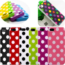 4 4S Hot!Cute Design Polka Dot Spot Silicon Soft Cover Cases For Apple iPhone4 iPhone4S Case For iPhone 4 iPhone 4S Shell Best
