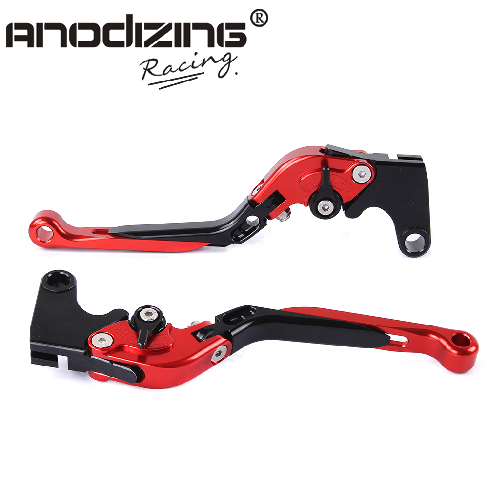 F-16/Y-688 Adjustable CNC 3D Extendable Folding Brake Clutch Levers For Yamaha FZ6 FAZER 2004-2010<br>