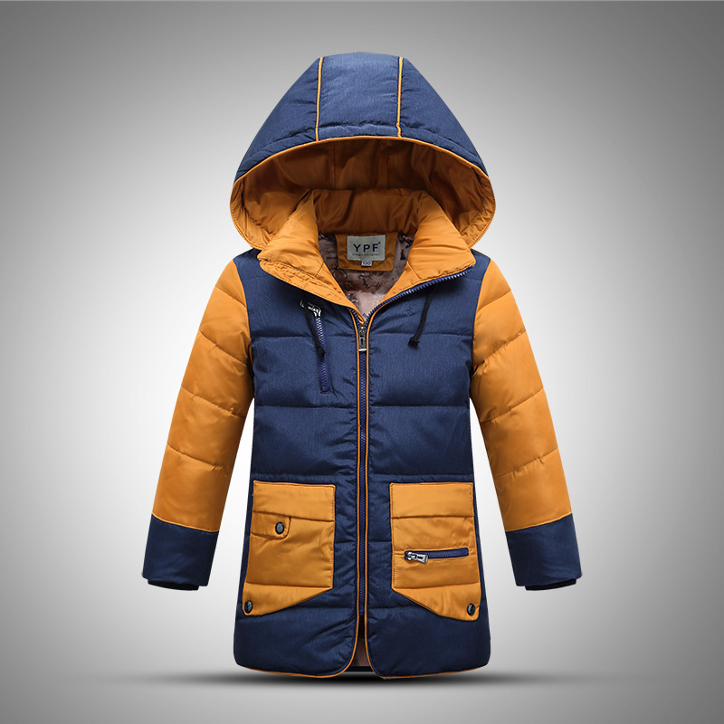 Casual Long Section Boy Winter Down Jacket Patchwork Broadcloth Baby Boys Clothes Hooded Zipper Baby Snowsuit Kid Park Down CoatОдежда и ак�е��уары<br><br><br>Aliexpress