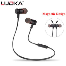 Buy LUOKA M9 Metal Sports Bluetooth Headphone SweatProof Earphone Magnetic Earpiece Stereo Wireless Headset Mobile Phone for $10.49 in AliExpress store