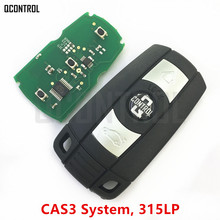 QCONTROL Car Remote Smart Key DIY for BMW 1/3/5/7 Series CAS3 X5 X6 Z4 Vehicle Keyless Alarm 315LP(China)
