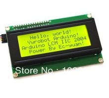 10pcs x IIC/I2C 2004 LCD module yellow and green screen with library files