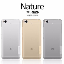 xiaomi mi5s case cover NILLKIN Nature clear TPU Transparent soft case for xiaomi mi5s Luxury brand with retailed package