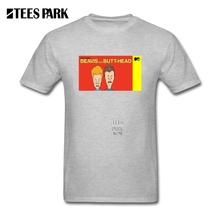 O-Neck Tees MTV Beavis And Butthead Male Round Neck Short Sleeve T Shirt Plus Size Men Funny Printed T Shirts(China)