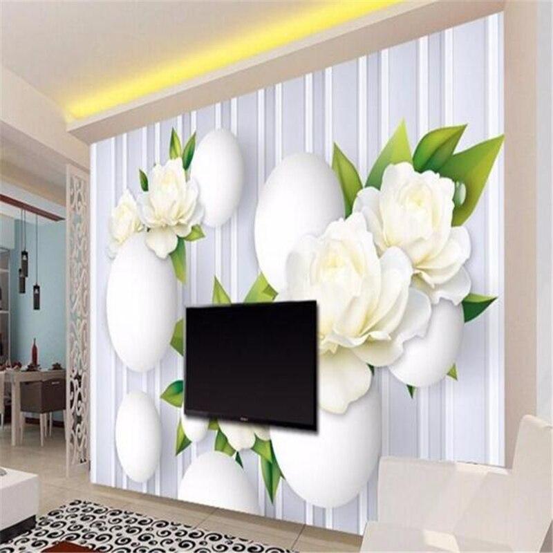 European modern simple 3D flower ball mural modern painting 3D living room bedroom TV background wallpaper for walls 3 D mural<br><br>Aliexpress