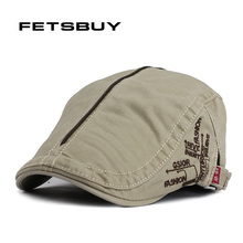 FETSBUY Spring And Autumn Vintage Simple Solid Unisex Solid Beret Buckle Flat Caps Warmer Berets Leisure Hat For Womens Mens(China)