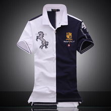 Embroidered Horse Logo Brand Militare Men Polo Shirts Air Force One short sleeve polos male top tee men brand clothing(China)
