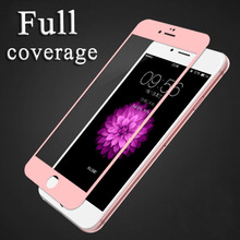 Premium Real Full Coverage Tempered Glass Film For iPhone 6 6S For iPhone 6 S plus Protective Case Cover(China)
