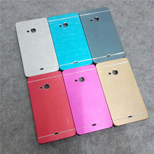 Luxury brushed aluminum slim mobile phone case hybrid hard plastic back cover for Microsoft Nokia Lumia 535 532 530 540 435