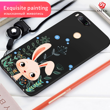 ASINA Cartoon Cat Case For Xiaomi Mi A1 Animal Patterned Silicone Cover For Mi 5X Shockproof Plastic Capa For Xiaomi MiA1 Case(China)