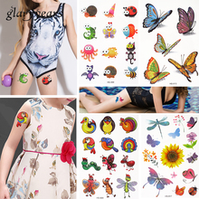 Buy 18 Pieces/set Small Cartoon Owl Dragonfly Styling Fake Flash Glitter Temporary Tattoo Sticker Child Women Girl Face Body Art for $9.99 in AliExpress store