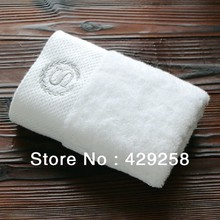 Free shipping hot sale high quality five star hotel hand towel 40*80cm*185g white cotton towel sport/hair/Hotels/home best towel