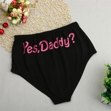 Buy Chamsgend Intimates Women Sexy Hot Underwear YES,DADDY? Print Lingerie Underpants Knickers Female Briefs Panties 80111