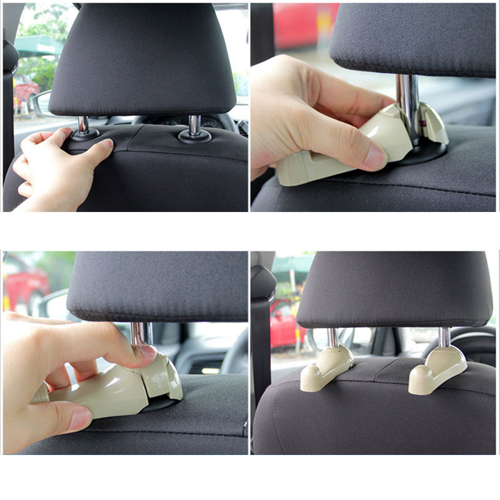 How to install Multi Function Car Hook Hanger with Safety Hammer