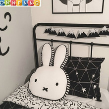Baby Rabbit Pillow Sleep Cushion Kids Room Decoration Infant Bunny Pillow Rabbit Stuffed Toys Boys Girls Dolls Photography Props