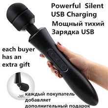 Buy 20 modes Body massage Powerful magic wand massager AV Wand Vibrator sex products USB rechargeable vibrators Sex Toys women