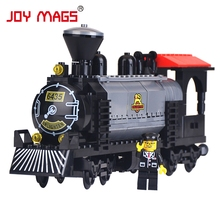 JOY MAGS 631 The Train Heavy Steam Engine with Driver Building Blocks Toys Compatible with All Brand