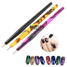 1Pc Nail Art Dotting Pen Brush Acrylic DIY Magic 3D Tips Cat Eye Polish UV Gel Painting Magnetic Magnet Pen Manicure Salon Tools