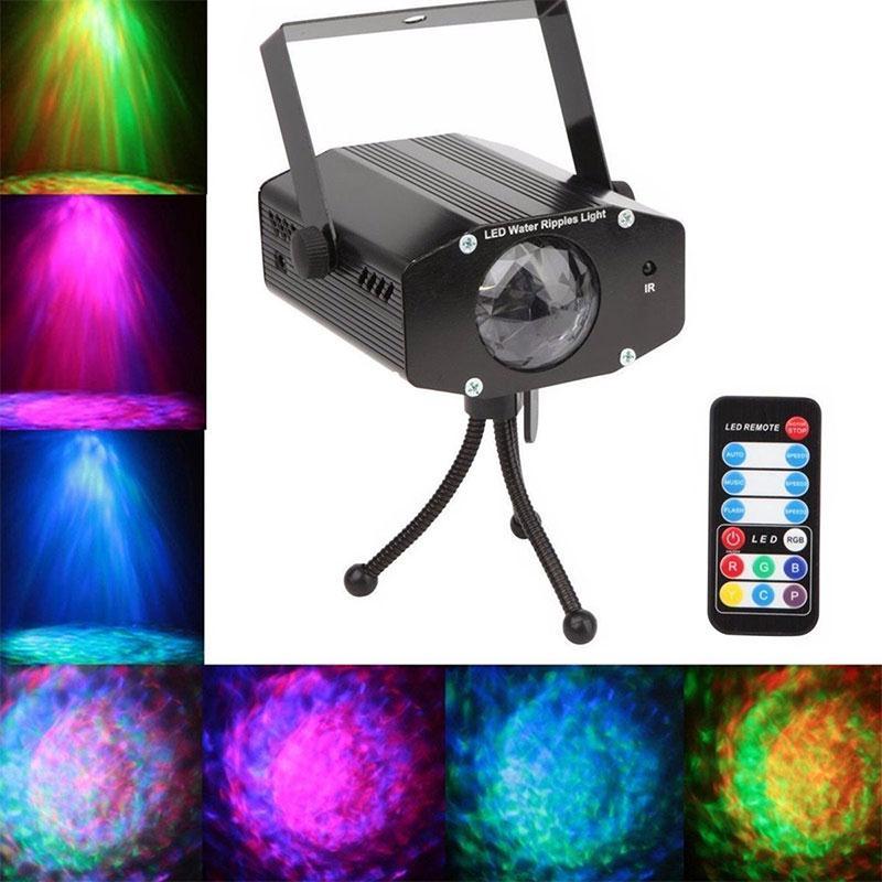 DJ Stage Xmas Show Club Bar RGB Colorful Lighting Projector Light Black<br><br>Aliexpress