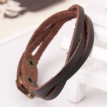 Korea new style braided leather multi-color fashion men women charm bracelets trendy pulseiras braceletes bangles