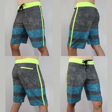 badeshort Elastic Stretch Quick dry Men beach board surf shorts Mens Boardshorts Surfing Surft Bermudas trunks 30 32 34 36 38(China)