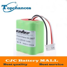 High Quality New 7.2V Full 2500mAh Vacuum Replacement Battery For iRobot Roomba Braava 380 & 380T(China)