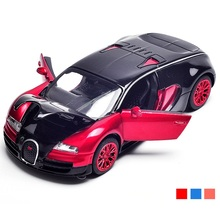 1/32 Alloy Model Size 14Cm Nice Car W/ Light and Music Die Cast Toys Car good quality 3 Colors Open Doors