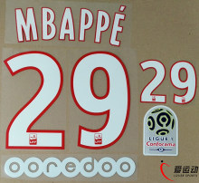 2017 2018 ПСЖ дома mbappe 29 компл. + Ligue 1 патч + OOREDOO mbappe #29 nameset(China)