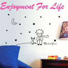Enjoyment For Life 2016 New Arrival High Quality Stars Moon The Little Prince Boy Wall Sticker Home Decor Wall Decals Nov 2(China)