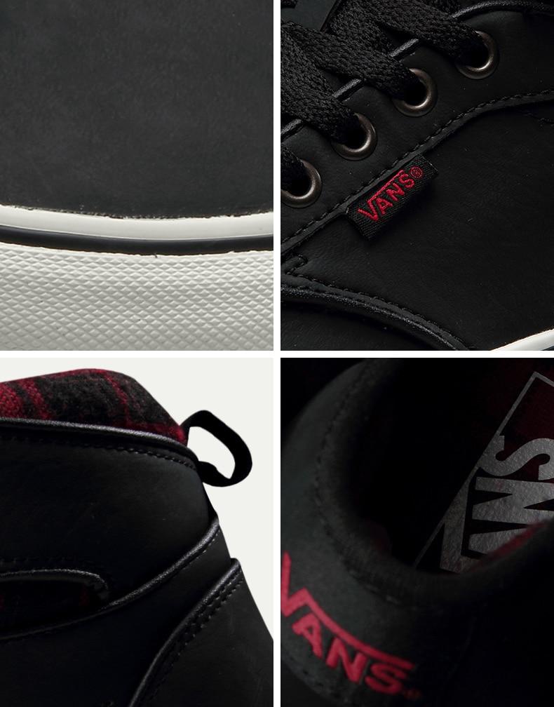 Original Vans Black Color High-Top Men's Sneakers For Men Skateboarding Shoes Sport Shoes