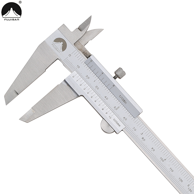 FUJISAN 0-200mm/0.05mm Vernier Caliper 1/128in Stainless Steel Guage Micrometer  Micrometer Measuring Tools<br><br>Aliexpress