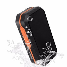Ecandy Waterproof Resistant IPX4 outdoor build in battery portable1200MAH TF USB Radio FM wireless speakers-Black+Orange(China)