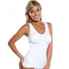 Hot Selling Women Slim Up Lift Bra Shaper Tops Body Shaping Camisole Corset Waist Slimming shapers Super Thin Seamless Tank tops(China)