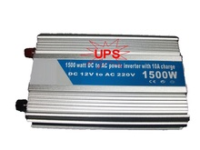 DC12V to AC220V 50HZ rated power 1500w modified Sine Wave Inverter with 10A UPS Charger Function Home Use