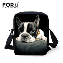 FORUDESIGNS Children Mini School Bags for Boys Girls Animal Dog Cat Schoolbag Messenger Baby Kids Cute Casual Book Bags Mochila