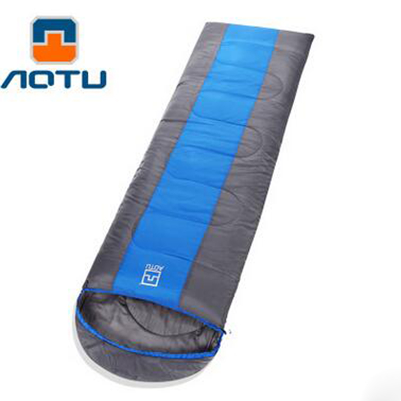 Aotu New Multifunction Mini Ultra-light Portable Envelope Type Outdoor Can Be Spliced Sleeping Bag Camping Travel Hiking Bag<br>