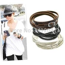 FD1825 Good looking Vintage Wrap Cuff Bangle Punk Multilayer Leather Rivet Stud Bracelet 1pc