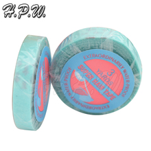 HPW 1 roll 0.8cm x 3yards Water Proof Super Hair Tape For Hair Extensions Glue Toupee Lace Wigs Skin Weft Wig Tape