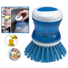 Automatic Dosing Cleaning Brush Kitchen Wash Tool Hydraulic Pot Brush Pot Pan Dish Bowl Palm Scrubber Cleaning Cleaner