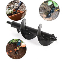 Garden Auger Spiral Drill Bit Roto Flower Planter Bulb Shaft Drill Auger Yard Gardening Bedding Planting Hole Digger Tool(China)