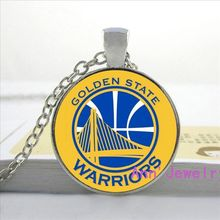 W-064 basketball jewelry sport team logo necklace statement necklace Golden State Warrior pendant&necklace