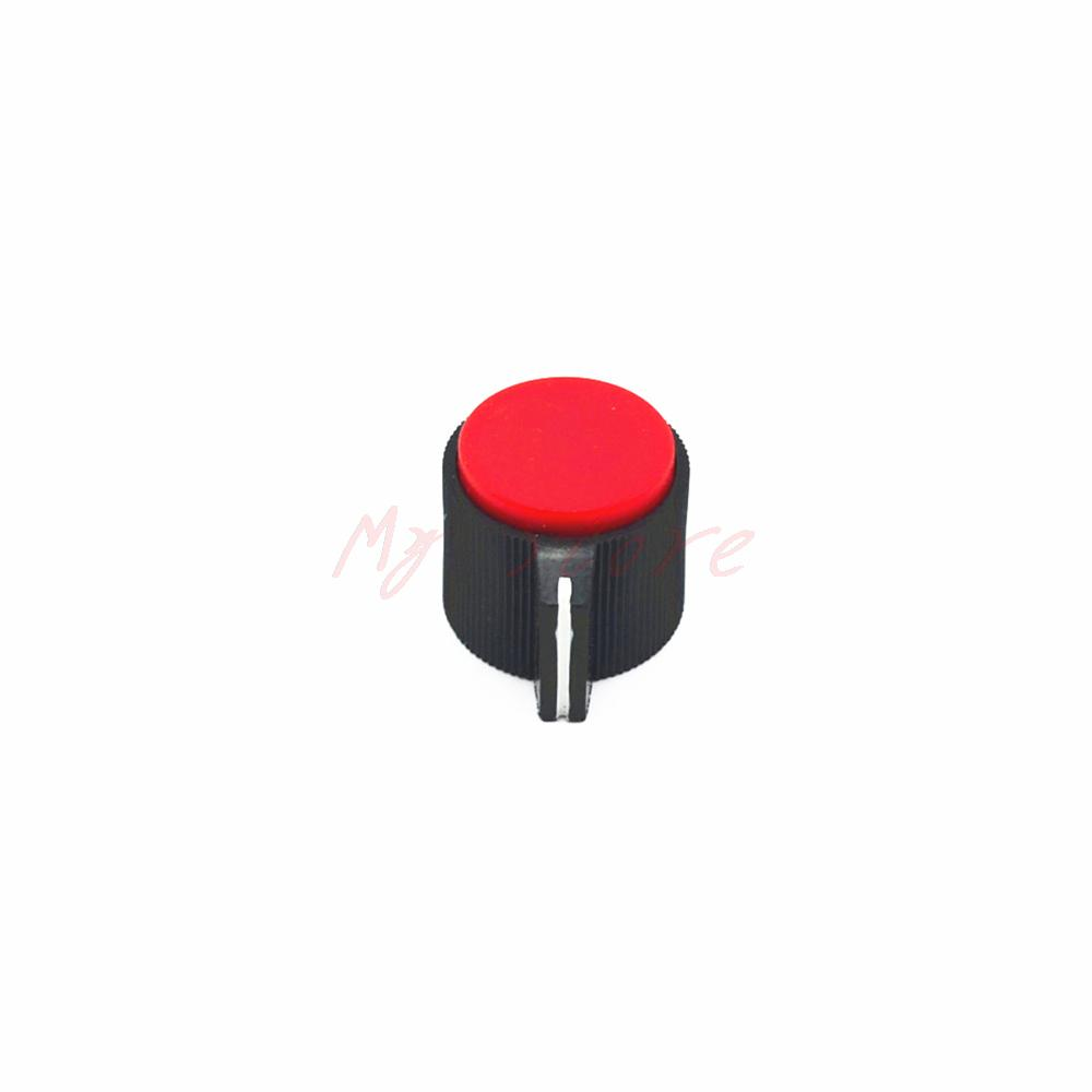 Red 19X17mm Top 6mm Shaft insert  Dia knurling Rotary Potentiometer Knobs<br><br>Aliexpress