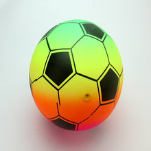16cm Volleyball ball Kids outdoor Inflatable Toy balls rainbow printing Letter geometry shape Plastic PVC bouncing Ball Random(China)
