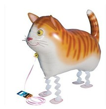 Hot sales ! Free shipping 50pc/set Walking pet balloons ,Walking cat balloons. kids toys, helium balloons,62CMX46CM